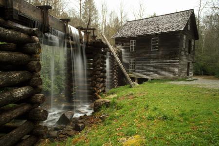 Фото дом, трава, вода