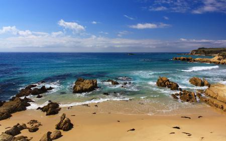 Картинки песок, камни, море, пляж