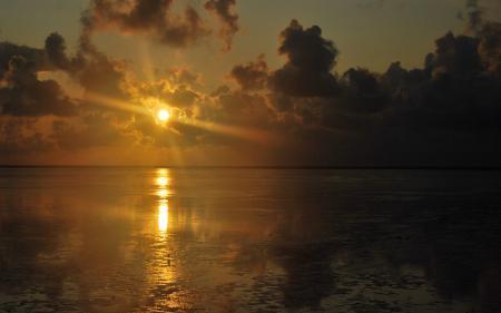 Фотографии море, закат, солнце, лучи