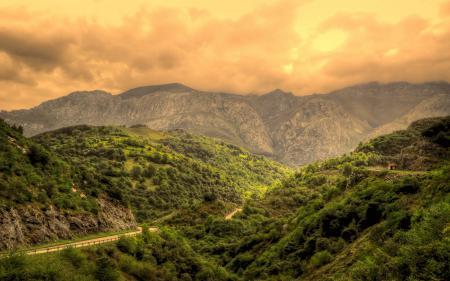 Обои Испания, дорога, горы, небо