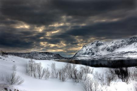 Заставки зима, снег, горы, небо