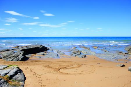 Заставки пейзажи, вода, камни, Rocky Beach