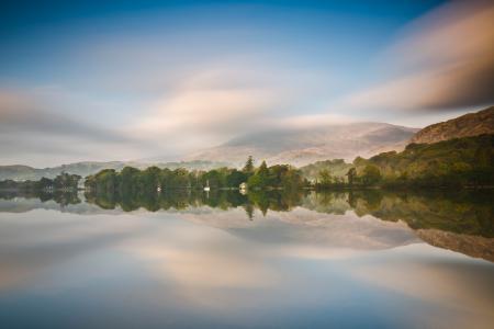 Заставки небо, деревья, отражение
