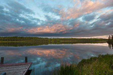 Заставки река, небо, деревья, отражение