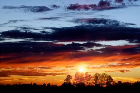 Картинки вечер, закат, солнце, небо