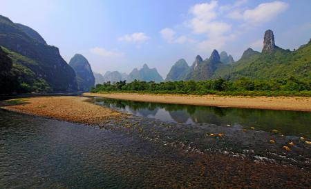 Картинки Природа, горы, река, берег