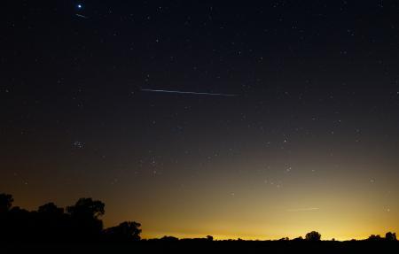 Фотографии Аргентина, метеоры, ориониды, комета