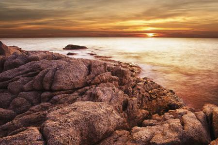 Заставки Perfect scenery, seacoast clouds, dusk, horizon