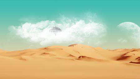 Заставки Space and Desert, пустыня, планета, by