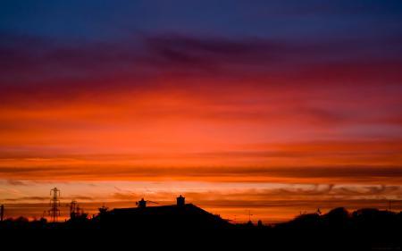 Заставки пейзаж, природа, закат, солнце