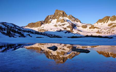 Обои Пейзаж, горы, снег, озеро