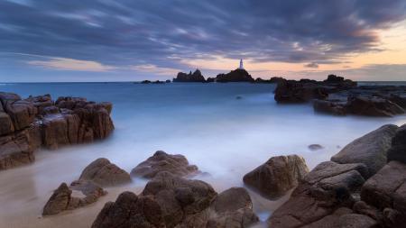 Заставки Море, скалы, камни, маяк