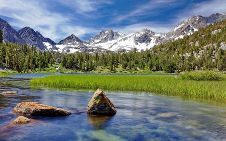 Обои Природа, горы, лес, река