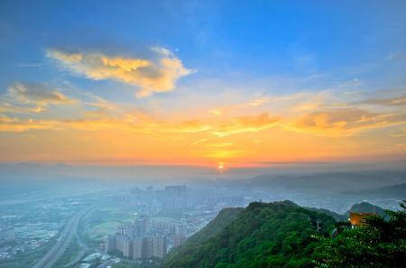 Обои город, небо, закат, рассвет