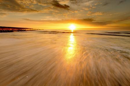 Картинки закат, море, природа, пейзаж