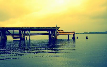 Фотографии озеро, мост, небо, природа