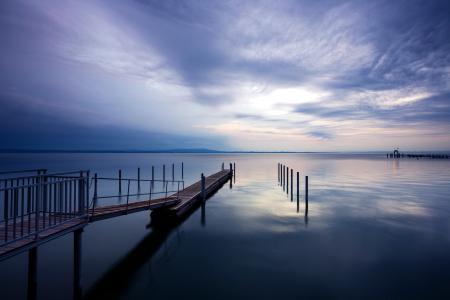 Заставки ночь, озеро, природа, пейзаж