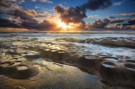 Фото море, скалы, вода, потоки