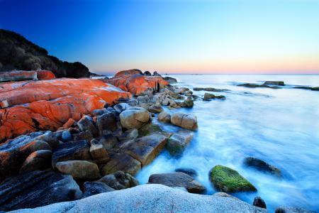 Фотографии море, небо, горизонт, камни