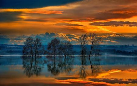 Фото вечер, закат, небо, облака
