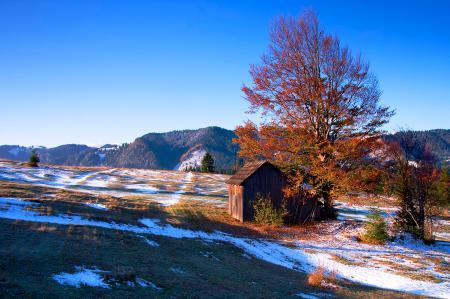 Обои румыния, осень, небо, горы