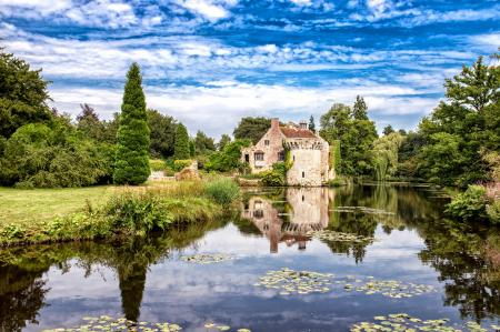 Обои Scotney замок, английский, загородный, дом