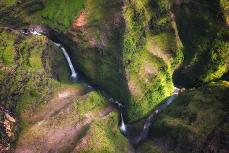 Фото hawaii, kauai, водопад, река