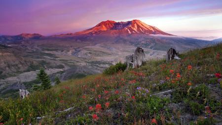 Фотографии закат, горы, природа, пейзаж