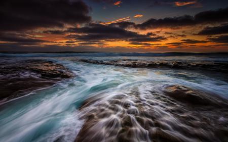 Картинки море, пляж, волны, потоки