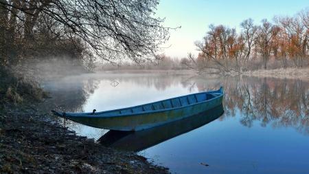 Картинки Lombardia, barca, riflessi, winter