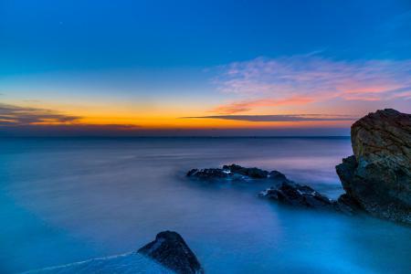 Заставки скалы, океан, рассвет, пейзаж