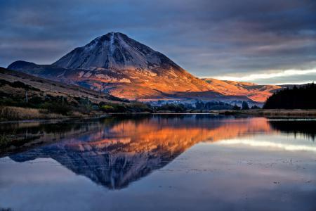 Фото горы, утро, природа, пейзаж