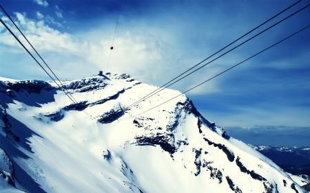 Фотографии гора, горы, вершина, канатная дорога