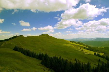 Картинки холмы, горы, небо, облака