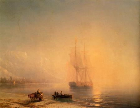 Заставки Айвазовский, Спокойное море, картина