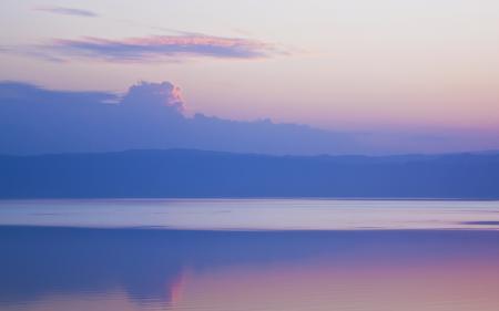 Заставки вечер, озеро, облака, небо