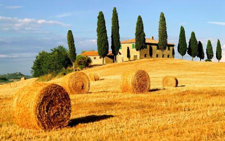 Заставки село, сено, дом