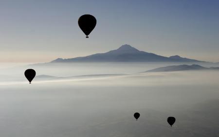 Заставки пейзажи, спорт, воздушный шар, воздушные шары