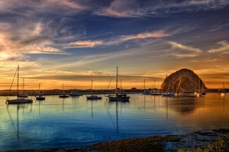 Заставки пейзажи, вода, закат, лодки