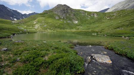 Заставки озеро, горы, камни