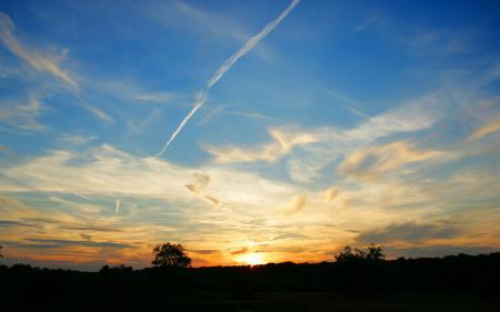Заставки солнце, небо, облака, деревья