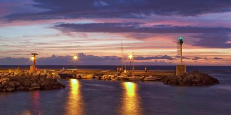 Фотографии вечер, пирс, люди, море