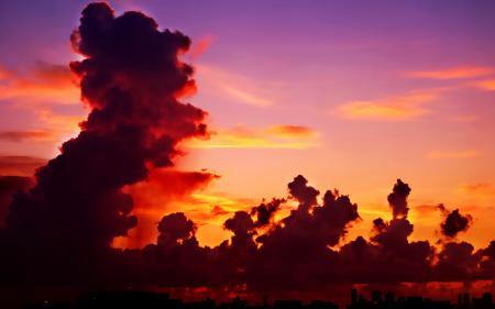 Фото Небо, облака, горизонт, город