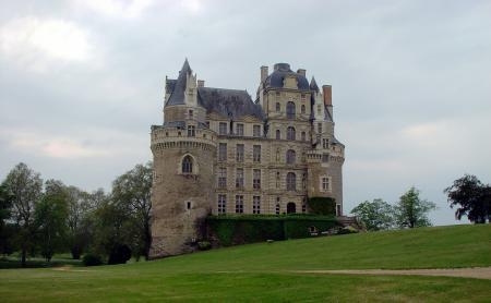Фото бриссак, замок, небо, трава