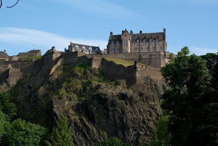 Фото эдинбург, замок, скалы, крепость
