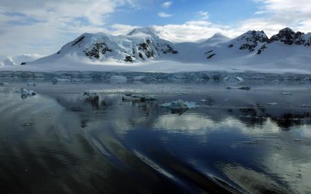 Фотографии вода, зима, горы, снег