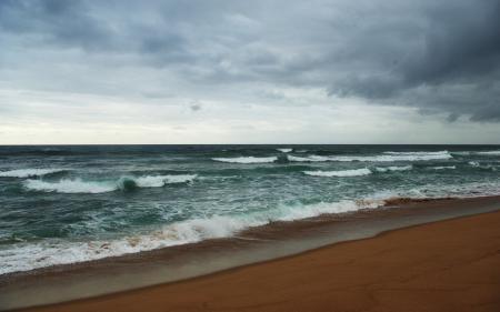 Обои море, волны, вода, погода