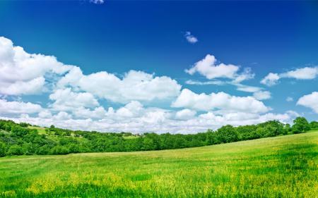 Фотографии пейзажи, облока, небо, поле