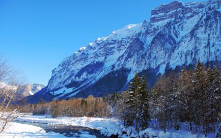 Фотографии зима, горы, природа, пейзаж