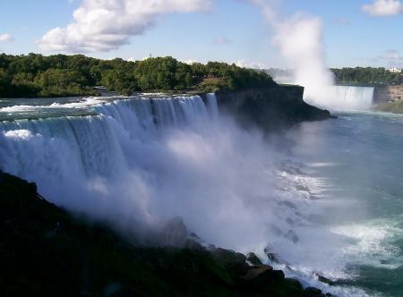 Заставки Ниагарский водопад, каскады, пороги, обрыв
